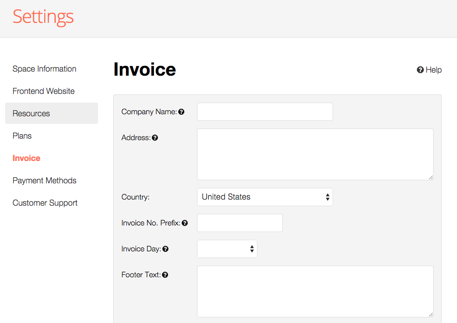 setting up invoice coworkify support